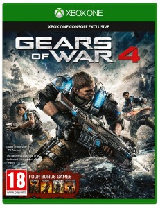 Gears of War 4 PL + 4 gry XBOX ONE